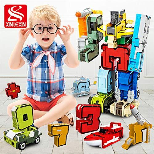 3D Rompecabezas para Colorear, ABS números y símbolos de deformación Digitales diversión Equipo Rompecabezas de Montaje de Robots Juguetes de los niños DIY Puzzle