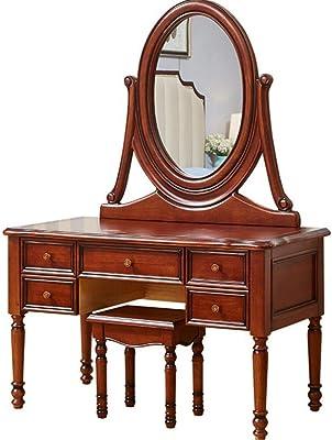 Mesa de tocador con espejo con tapa abatible Escritorio de tocador ...