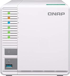QNAP TS-328-US QNAP 3-Bay Personal Cloud NAS, Ideal for RAID5 Storage. ARM Quad-core 1.4GHz, 2GB DDR4 RAM, 2 x Gigabit LAN...