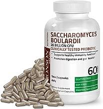 Saccharomyces Boulardii Probiotic 20 Billion CFU Gluten Free Soy Free Clinically Tested Proprietary Strain, 60 Vegetarian Capsules