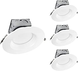 OSTWIN (4 Pack) 6 Inch Round LED Recessed Ceiling Light Fixture, Dimmable, Downlighter Junction Box, IC Rated, 15W (120 Watt Replacement) 3000K, 1100Lm, No Can Needed, ETL and Energy Star Listed