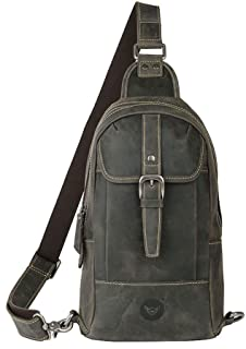 Men's bag Fashian Genuine Leather Chest Bag Men And Women Oblique Travel Bag Small Backpack Waist Bag (Color : Turquoise)