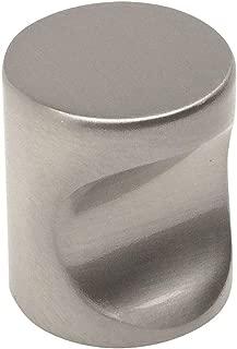 10 Pack - Cosmas 3312SN Satin Nickel Contemporary Cabinet Hardware Finger Pull - 3/4