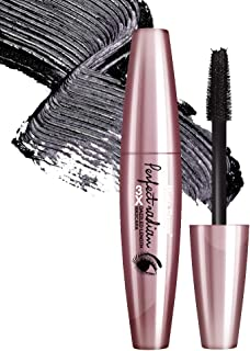 Mascara Waterproof by Music Flower Black 3X Dazzled Length Thick Curling Eye Make Up Long lasting Smudge-proof Eyelash