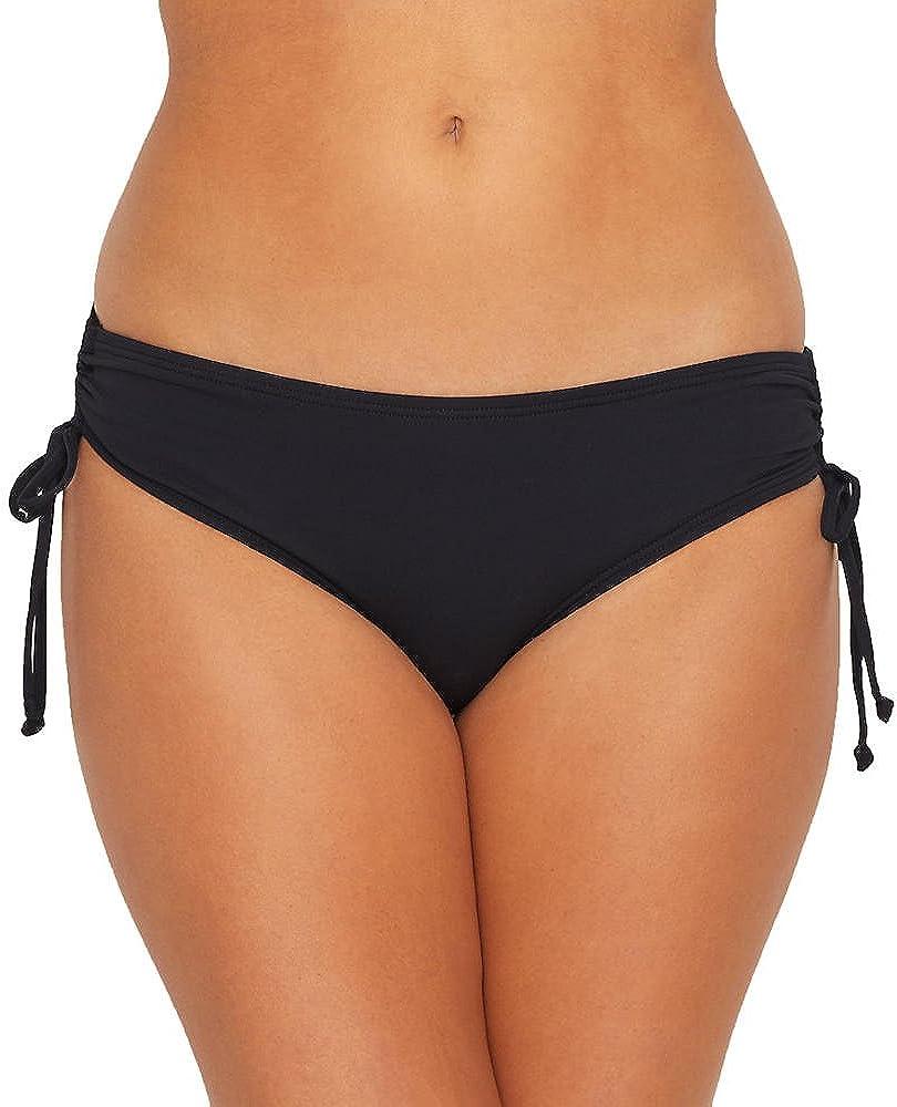 Smooth Curves Side Tie Bikini Bottom — Figure Flattering, Adjustable Side Ties with Ruching