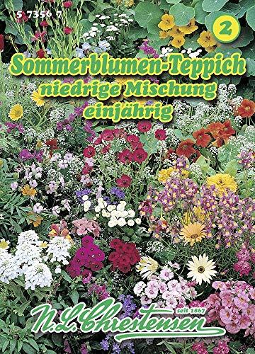 N.L. Chrestensen 573567 Sommerblumenteppich niedrige Mischung (Sommerblumensamen)