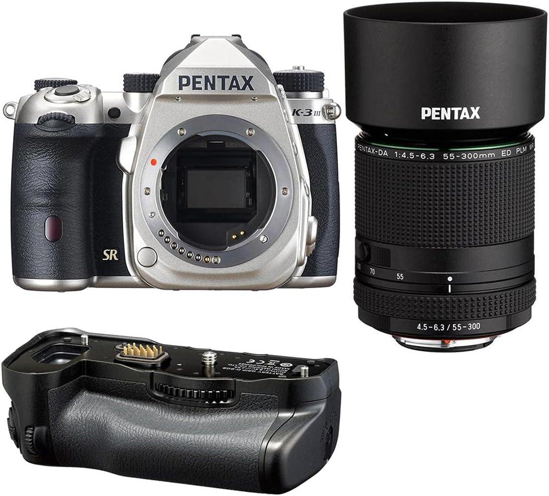 Pentax K-3 Mark III APS-C-Format DSLR Direct stock discount HD Camera DA Silver Over item handling 55-30