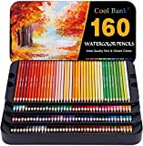 160 Professional Watercolor Pencils, Watercolor Pencil Set for Coloring Books, Artist Pencils Set, Premium Artist Soft Series Lead with Vibrant Colors for Sketching,Shading & Coloring in Tin Box
