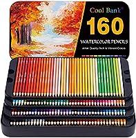 160 プロフェッショナル 水彩鉛筆 水彩鉛筆セット 塗り絵 アーティスト鉛筆セット プレミアムアーティストソフトシリーズ 鮮やかな色 スケッチ/シェーディング/カラーリング用 ブリキ箱入り