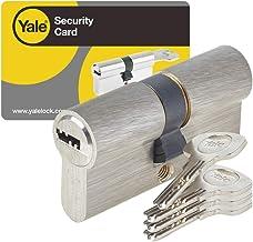 Yale YC1000 + 35 x 35 mm uitklapbare cilinder voor buiten- en toegangsdeur, 6 pennen, 4 sleutels, vernikkeld