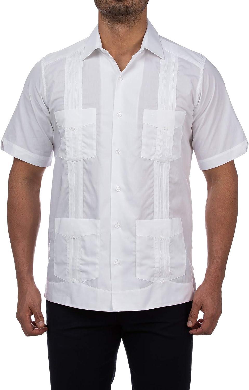 Manchester Men's Guayabera Shirt Short Sleeve Regular Fit