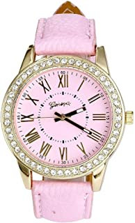 Pocciol Watch,Rhinestone Quartz Wrist Watch Vogue Women Ladies Fashion Crystal Dial Bracelet Watches