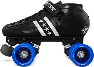Bont Roller Skates | LowCut Quadstar Speed Skating | Roller Skates | Indoor and Outdoor | 100% Leather | Youth - Boys - Girls - Men - Women