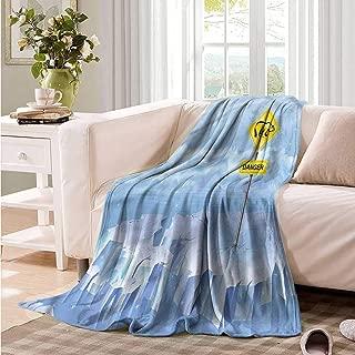 Oncegod Beds Blanket Winter Polar Bear Danger Sign North Throw Blanket Adult Blanket 93