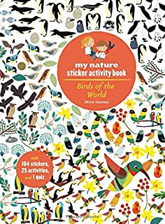 Birds of the World: My Nature Sticker Activity Book (Science Activity and Learning Book for Kids, Coloring, Stickers and Quiz)