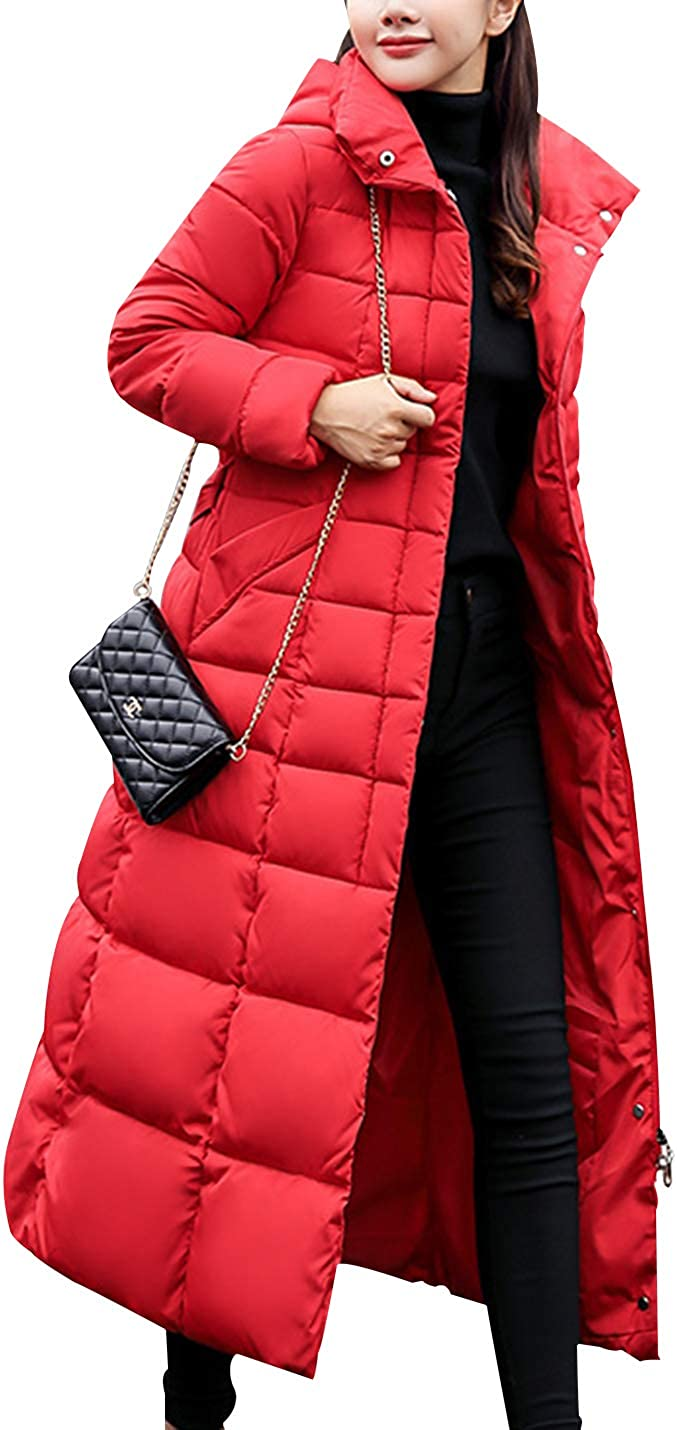 Yimoon Women's Winter Thickened Quilted Puffer Down Coat Long Jacket