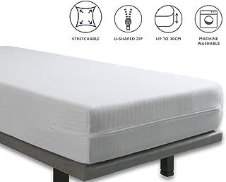 Tural – Funda de colchón Extra elástica y Resistente. Cierre con Cremallera. Talla 120x190/200cm