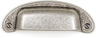 Gedotec Snäckhandtag silver antik borravstånd 64 mm | greppsnäcka i lantlig stil | skjutbart dörrhandtag | PETRA | skalhan...