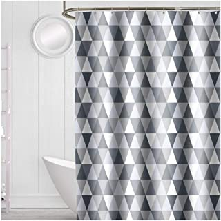 Geométrica Cortina de Ducha Cuarto de baño Moderno Impermeable Gruesa Cortina de Ducha Bañera Bañera Cubierta Extra Grande...