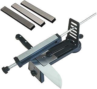 BENPAO Afilador de Cuchillos, Cuchillos de Cocina Profesionales Sistema de Herramientas de Afilado Ángulo Fijo con 3 Piedras