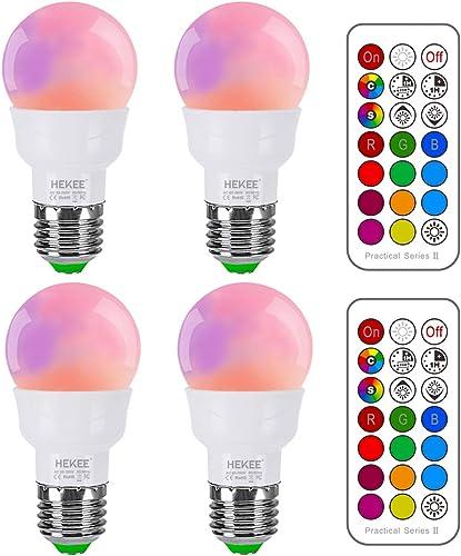 RGB LED Light Bulb, Color Changing Light Bulb, 40W Equivalent, 450LM Dimmable 5W E26 Screw Base RGBW, Mood Light Floo...