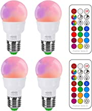RGB LED Light Bulb, Color Changing Light Bulb, 40W Equivalent, 450LM Dimmable 5W E26 Screw Base RGBW, Mood Light Flood Lig...