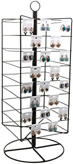 Tall Rotating Metal Earring Card Display Stand - Holds 144 Earring Cards