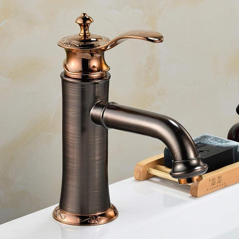 Wasserhahn Badarmaturen l Eingerieben Bronze Farbe Wasserhahn Messing Waschbecken Mischbatterie Mit Heiem Und Kaltem Wasser Waschbecken