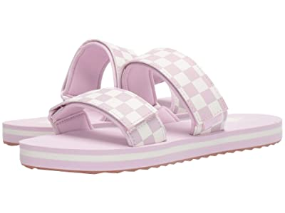 Vans Cayucas Slide ((Checkerboard) Lilac Snow/Marshmallow) Women