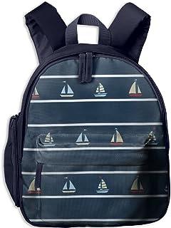 Sailboat Pattern Printing Book Bag Lovely Animal Kid's School Daypack Outdoor Boy Kindergarten Backpacks 12.5