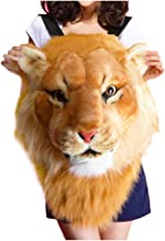 Best Domineering Tiger Head Lion Animal Head Backpack 3D Backpack (Lion, Large) Review