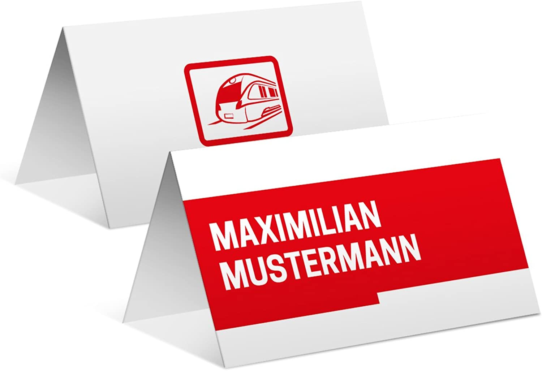 Tischkarten Tischkarten Tischkarten Hochzeit Geburtstag (50 Stück) - Bahnkarte Motiv - Platzkarten Namenskarten B06X9VQXT8   Stil    Verkauf    Elegante Form  7cc3b1