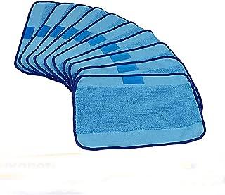 IETONE 10-pack Wet Microfiber Mopping Cloths Recycling Replaceable Mop Pads Fits iRobot Braava 380 380t 320 321 Mint 4200 4205 5200 5200C Robot