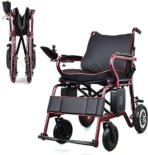 ZHANGYY Silla de Ruedas eléctrica Plegable Silla de Ruedas eléctrica Motor sin escobillas (batería de Litio 20A) Adecuado para Personas de Edad Avanzada Discapacitados Personas de Edad AVA