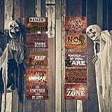 CHALA Banner per Portico di Halloween,Orrore Spettrale Appeso a Parete per Porta in Cartone Set Dolcetto o Scherzetto Forniture per Feste per Giardino all'aperto Halloween