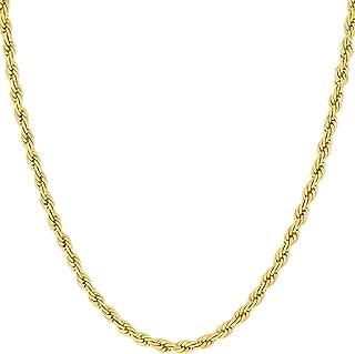 Cadena de Oro 14K Amarillo o Oro Blanco macizo de 2mm Corte de diamante Realmente Fuerte Cierre de garra de langosta para ...