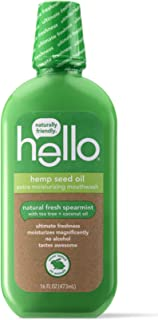 Hello Oral Care Hemp seed oil extra moisturizing mouthwash, 3 Count