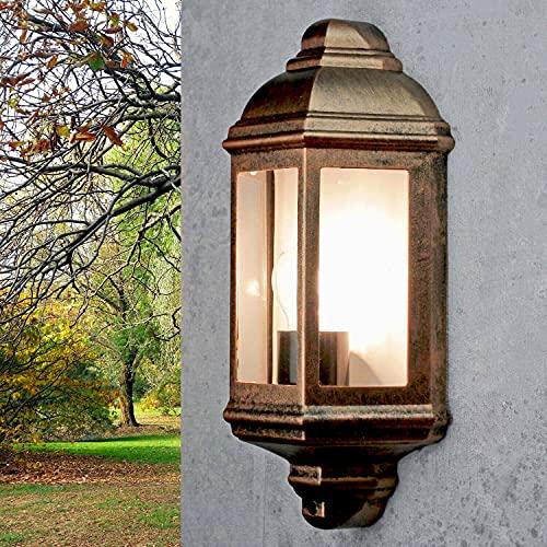 LIVORNO Wandlampe Vintage Landhaus in Kupfer Antik E27 IP44 elegante Wandleuchte Haus Garten