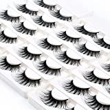 Wleec Beauty Long Dramatic Eyelashes False Eyelash Pack Thick Strip Lashes #F43/L (15 Pairs/3 Pack)
