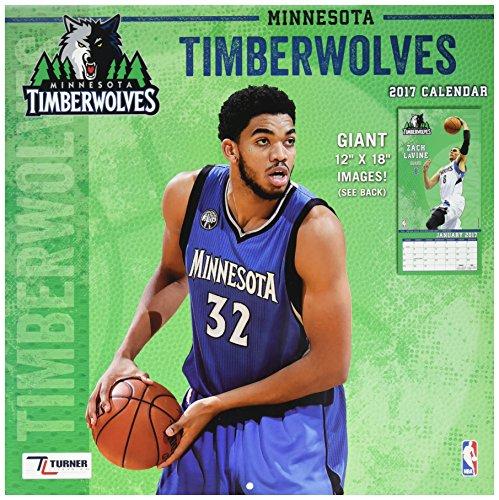 "Turner Licensing Sport 2017 Minnesota Timberwolves Team Wall Calendar, 12""X12"" (17998011886)"
