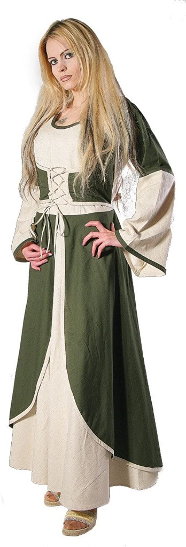 Bäres Mittelalter Zofenkleid - Damen Kiara schwarz   olive B00FAPXGPG Niedrige Kosten  | Modisch