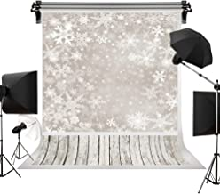 Kate 5x7ft/1.5m(W) x2.2m(H) Winter Backdrops Photography Christmas Frozen Snow Background Wood Floor Children Photo Studio Backdrop
