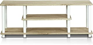 Furinno Turn-N-Tube No Tools 3D 3-Tier Entertainment TV Stands, Oak