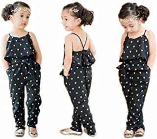 Goodlock Children Kids Fashion Rompers Girls Love Heart Straps Rompers Jumpsuits Piece Pants Clothing