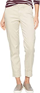 NYDJ Womens Skinny Chino Ankle w/Clean Cuff in Feather Reactive