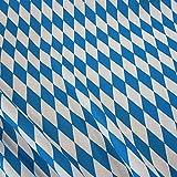 Meterware Stoff Baumwolle Bayernraute blau weiß 8 cm