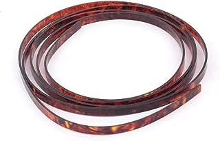 Musiclily Plastic Guitar Binding Purfling Strip 1650 x 6 x 1.5 mm, Tortoise Shell