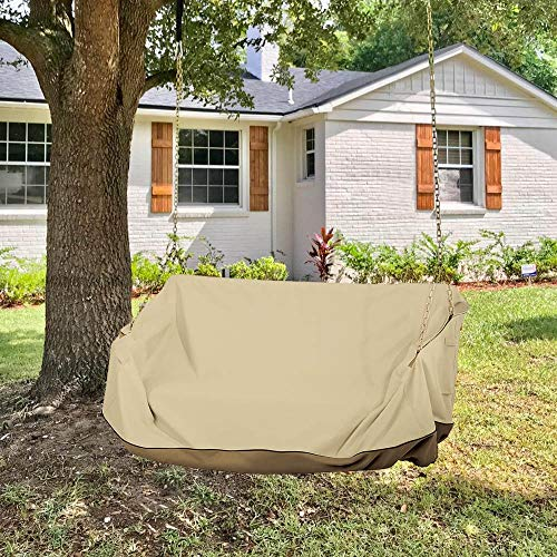 """56""""Lx25""""Wx32""""H Hanging Porch Swing Cover Waterproof for Outdoor Funiture Heavy Duty Patio Wooden Yard Swing Chair Cover Replacement"""