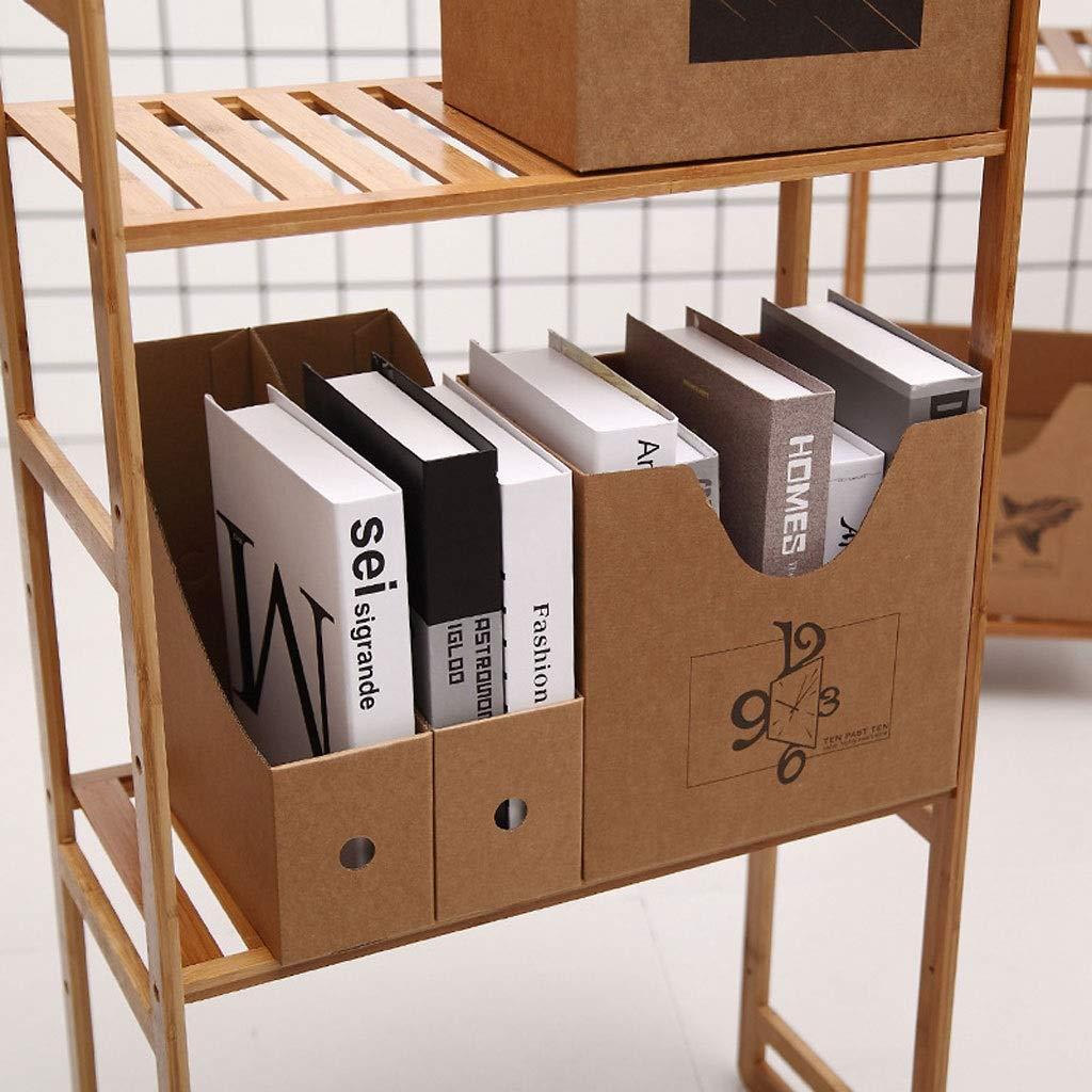 DIY del archivo Bastidores de almacenamiento de cartón cuero de la caja de almacenaje acabado cuadro Archivo repisa móvil de almacenamiento de almacenamiento dispositivo de cartón (Color : Bell) : Amazon.es: Hogar