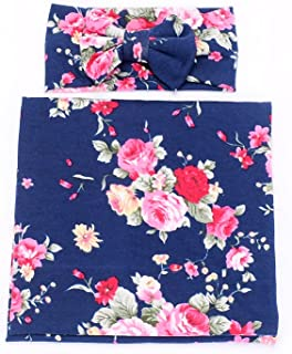 baby pink and navy blue
